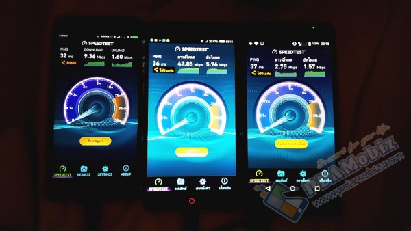 Speedtest4GTH North with Train 068