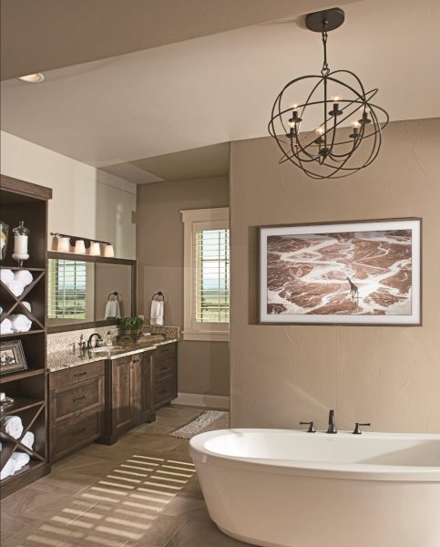 Home interior image of luxury home bathroom. Located in Fort Collins, Colorado.