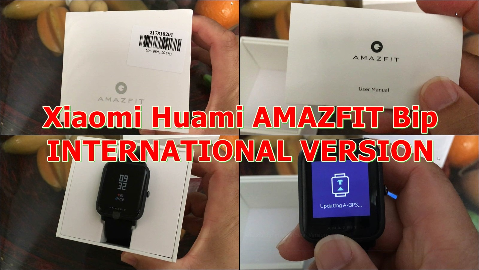 xiaomi huami amazfit bip smartwatch international