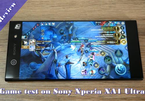 Game test on Sony Xperia XA1 Ultra
